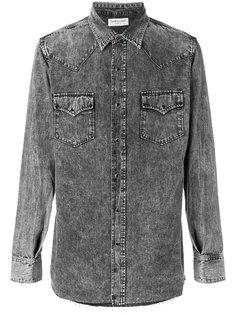 джинсовая рубашка с линялым эффектом Saint Laurent