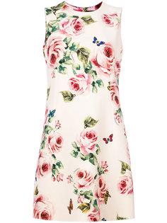платье-шифт с розами Dolce & Gabbana