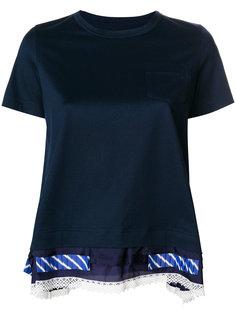 футболка с многослойным подолом Sacai