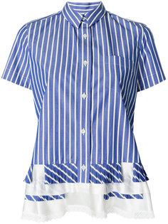 рубашка с оборками по подолу Sacai