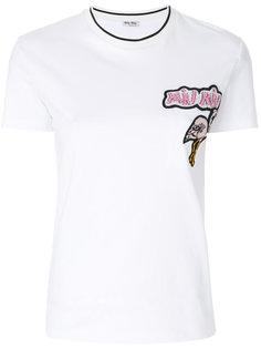 футболка с вышивкой Flamingo  Miu Miu