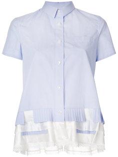 рубашка с рюшами по подолу Sacai
