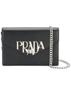сумка через плечо с бляшкой с логотипом Prada