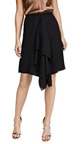 Loyd/Ford Black Drape Skirt