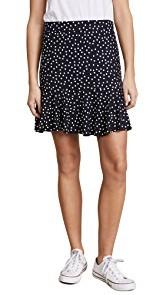 Three Dots Confetti Dot Ruffle Skirt