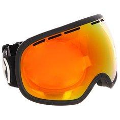 Маска для сноуборда Von Zipper Fishbowl Black Satin/Fire Chrome