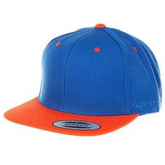 Бейсболка классическая Neff Flexfit/Yupoong Royal/Orange