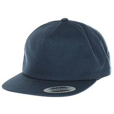 Бейсболка классическая Neff Flexfit/Yupoong Navy Blue