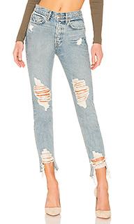 Укороченные джинсы скинни с высокой посадкой jeans - GRLFRND