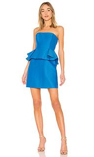 Платье с баской strapless - Halston Heritage