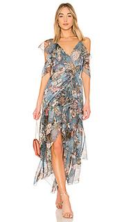 Платье с запахом arielle floral - NICHOLAS