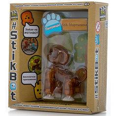 Фигурка питомца Мартышка, коричневая, Stikbot Zing