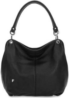 Черная сумка из мягкой кожи Fiato