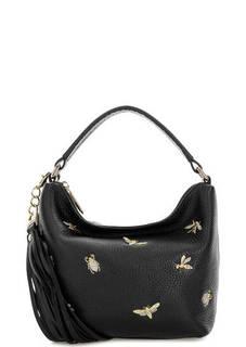 Маленькая черная сумка из мягкой кожи Curanni
