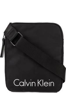 Черная текстильная сумка через плечо Calvin Klein Jeans
