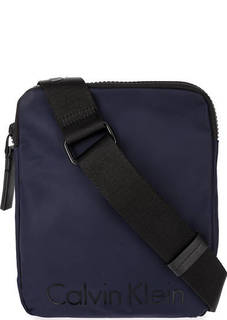 Синяя текстильная сумка через плечо Calvin Klein Jeans