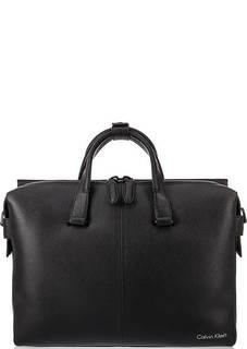 Кожаная сумка через плечо с короткими ручками Calvin Klein Jeans