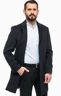 Шерстяное пальто с карманами Pierre Cardin