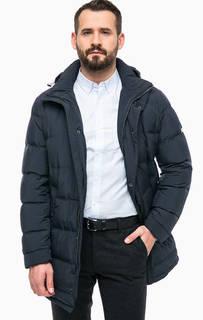 Удлиненный пуховик с карманами и капюшоном Pierre Cardin