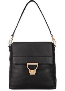 Кожаная сумка-рюкзак черного цвета Coccinelle
