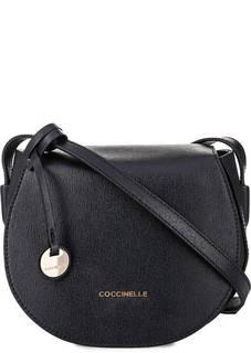 Синяя кожаная сумка с откидным клапаном Coccinelle