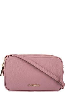 Маленькая розовая сумка с двумя отделами Coccinelle