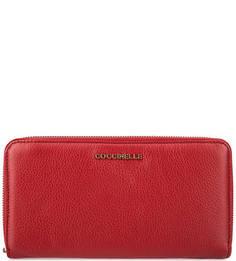 Кожаный кошелек с тремя отделами для купюр Coccinelle