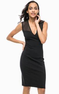 Платье из вискозы с прозрачными вставками Marciano Guess