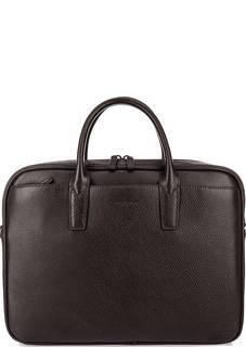 Кожаная сумка с широким плечевым ремнем Lancaster