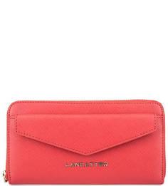 Красный кошелек из сафьяновой кожи Lancaster