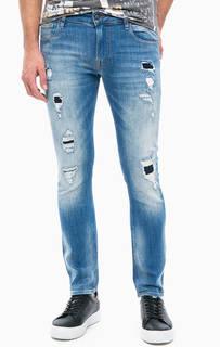 Рваные джинсы с низкой посадкой Guess