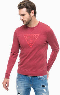 Красный свитшот с принтом Guess