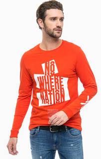 Оранжевая футболка с длинными рукавами Jack & Jones
