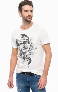 Хлопковая футболка с принтом Jack & Jones