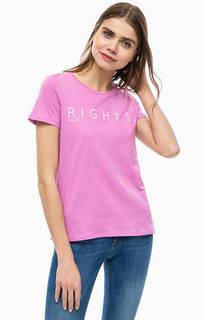 Хлопковая футболка с принтом Vero Moda