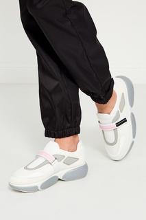 Кроссовки из белого текстиля Cloudbust Prada