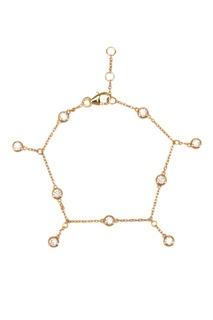 Золотистый браслет с подвесками Exclaim