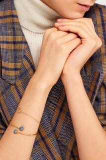 Золотистый браслет с кольцами Exclaim