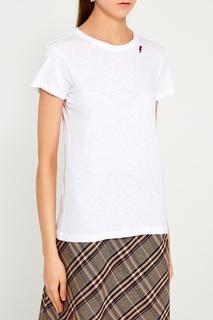 Белая хлопковая футболка Rag&Bone