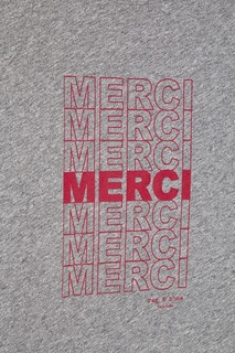 Серая футболка с надписями Rag&Bone