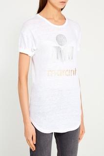 Льняная футболка с логотипом Isabel Marant Etoile