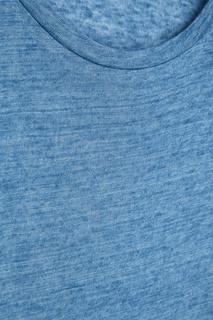 Льняная футболка голубого цвета Isabel Marant