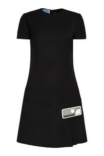 Шерстяное платье-мини Prada