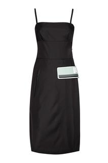 Платье с декоративной деталью Prada