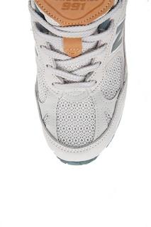 Бежевые кроссовки из нубука №991 New Balance