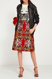 Красная бархатная сумка GG Marmont Gucci