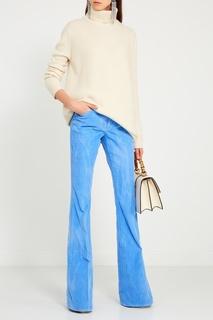 Голубые вельветовые брюки Gucci