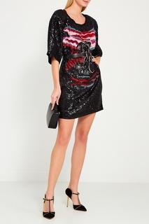 Черное платье с пайетками Dundas