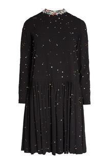 Платье с разноцветными кристаллами Miu Miu