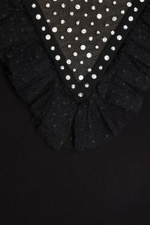 Платье-мини с декоративной вставкой Miu Miu